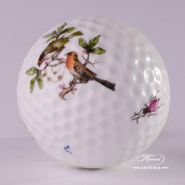 Golf Ball 7803-0-00 RO Rothschild Bird pattern. Classic Herend design. Herend fine china. Hand painted Ornaments