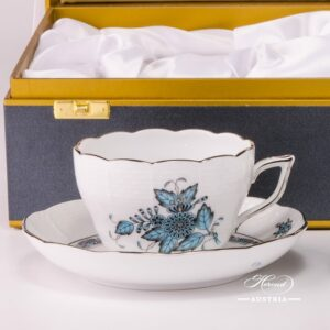 Apponyi 730-0-00 ATQ3-PT Tea Cup and Saucer two pieces Herend porcelain in Gift Box