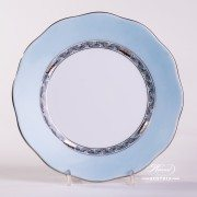 Apponyi Turquoise 20517-0-00 E-511 Dessert Plate Herend porcelain