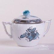 Apponyi Turquoise 472-0-09 ATQ3-PT Sugar Basin Herend porcelain