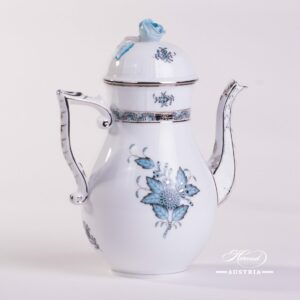 Apponyi Turquoise 613-0-09 ATQ3-PT Coffee Pot Herend porcelain