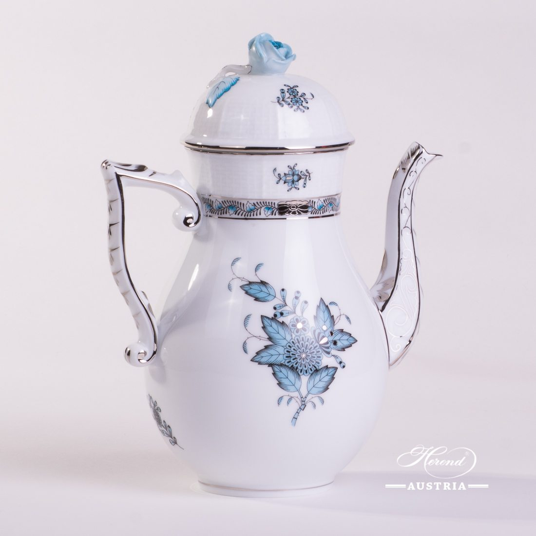 Chinese Bouquet Turquoise / Apponyi ATQ3-PT - Coffee Pot