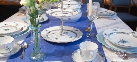 Apponyi Turquoise-ATQ3-PT Dinner Set - Herend Porcelain