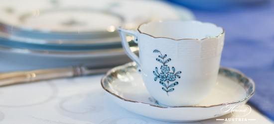 Apponyi Turquoise-ATQ3-PT Mocha Cup - Herend Porcelain