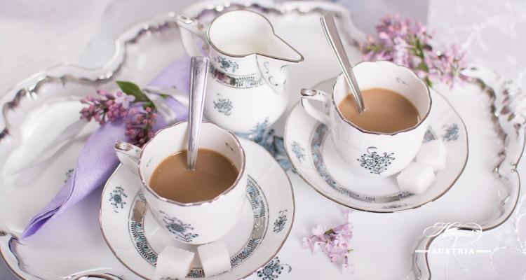 Apponyi Turquoise-ATQ3-PT Coffee or Espresso Set