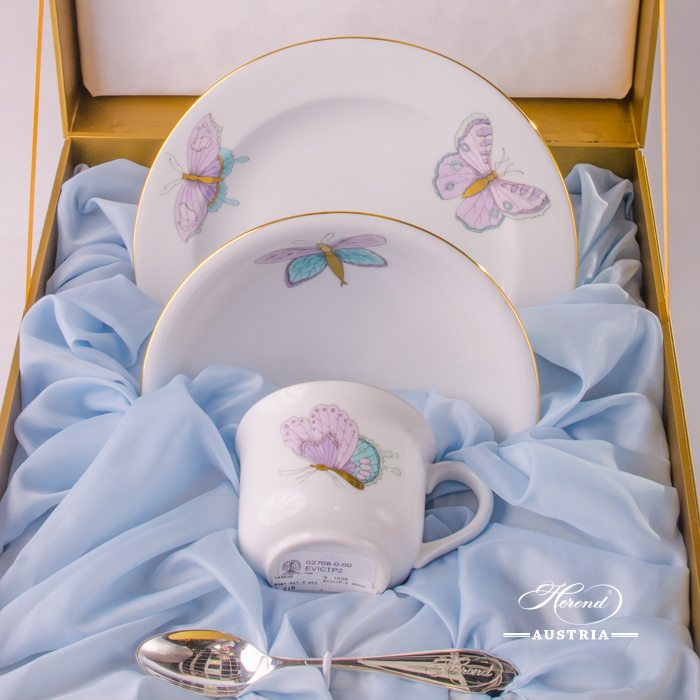 Baby Set for Boy - Royal Garden EVICTP2 - Herend Porcelain in Gift Box