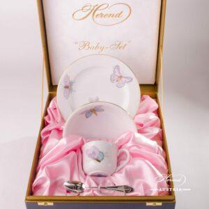 Baby Set for Girl-Royal Garden EVICTP2-Herend porcelain