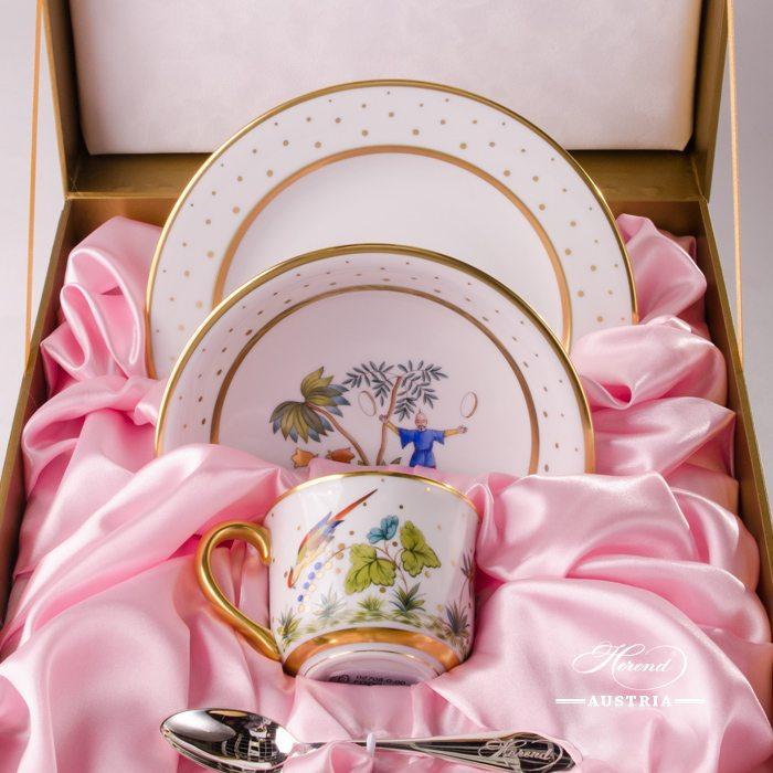 Baby Set for Girl - Oriental Showmen FODO - Herend Porcelain in Gift Box