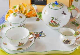 Herend fine china Tea Set with Hunting Trophies also known as Chasse - Tétes motif