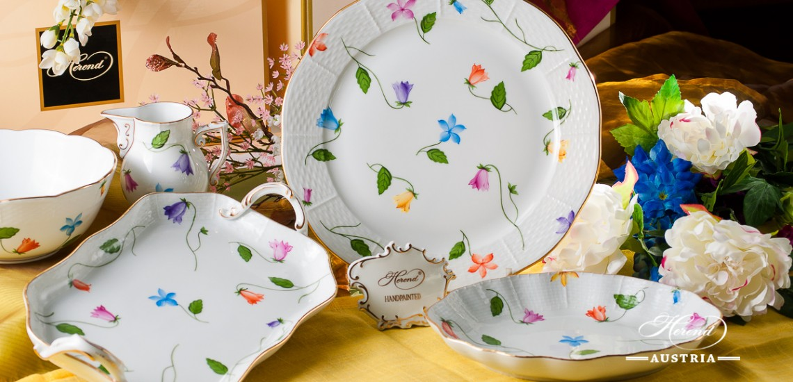 Bluebell Coloured-CMUC Dinner Set - Herend Porcelain