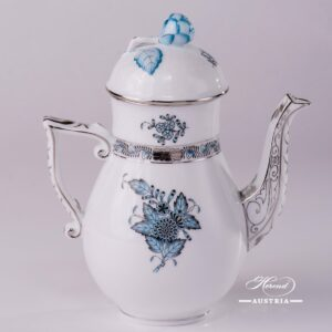 Apponyi Turquoise-ATQ3-PT Coffee Pot - Herend Porcelain