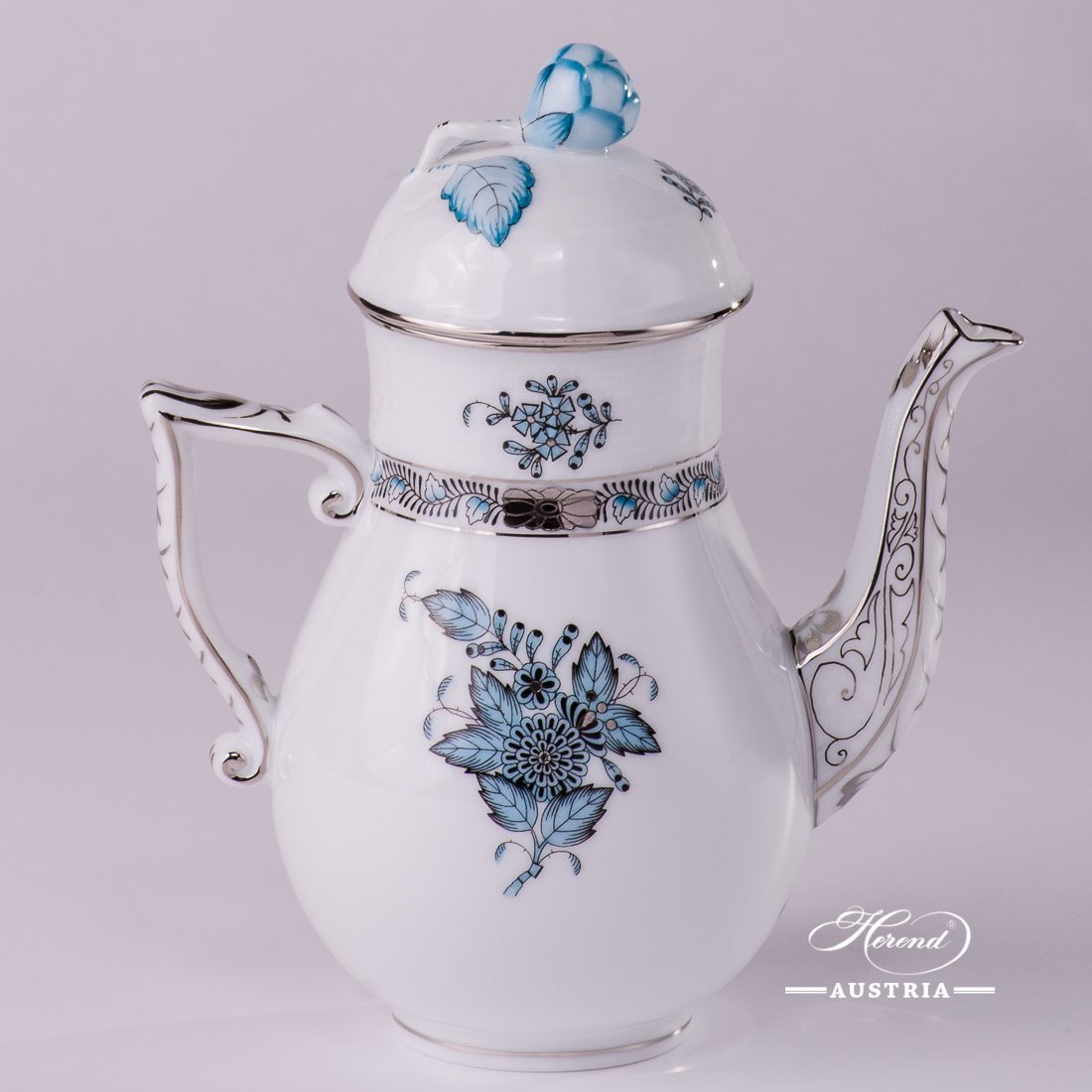 Apponyi Turquoise Coffee Pot - 615-0-12 ATQ3-PT - Herend Porcelain