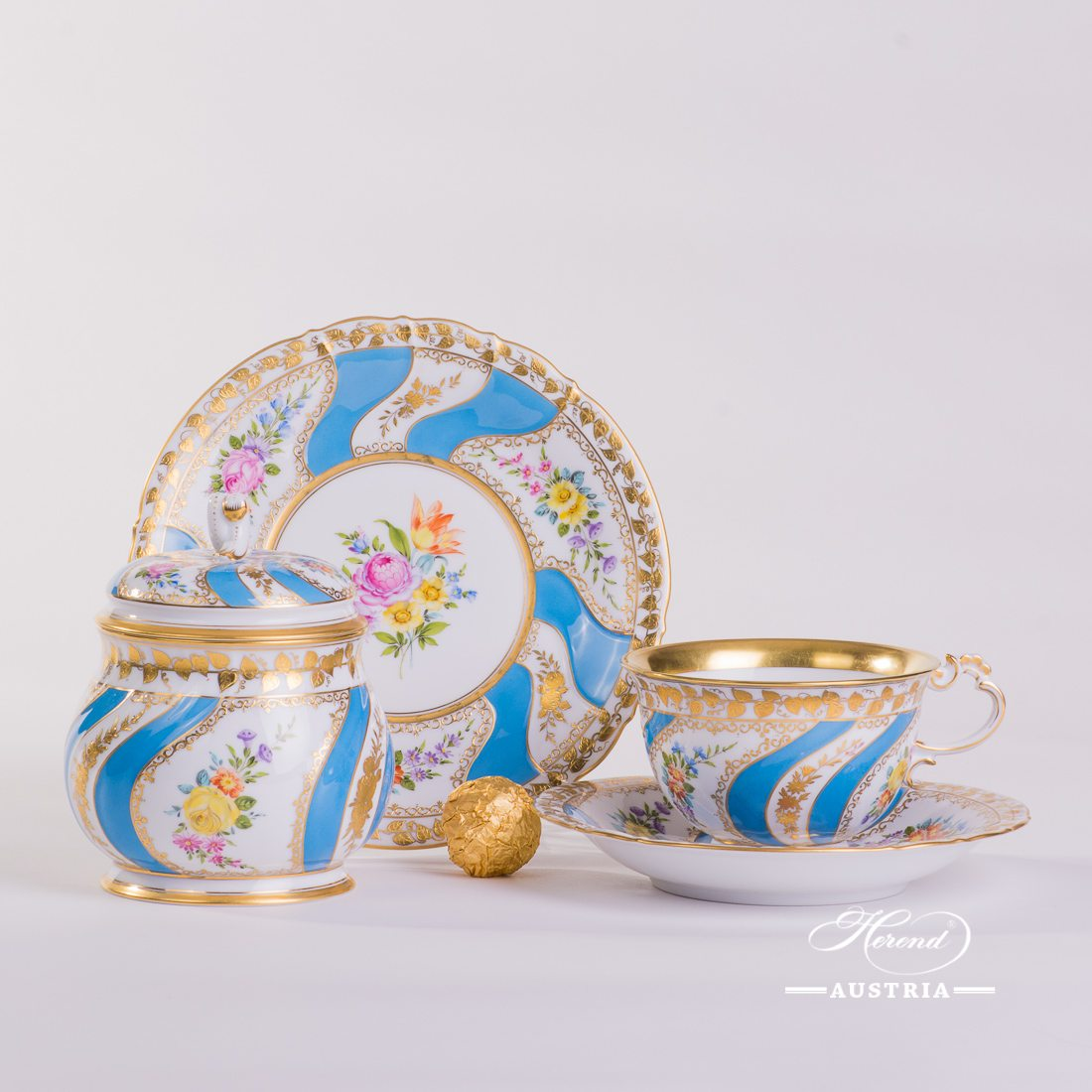 Colette Tea-Set for one Person - Herend Porcelain