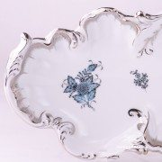 Apponyi Turquoise 7517-0-00 ATQ3-PT Rococo Dish Herend porcelain