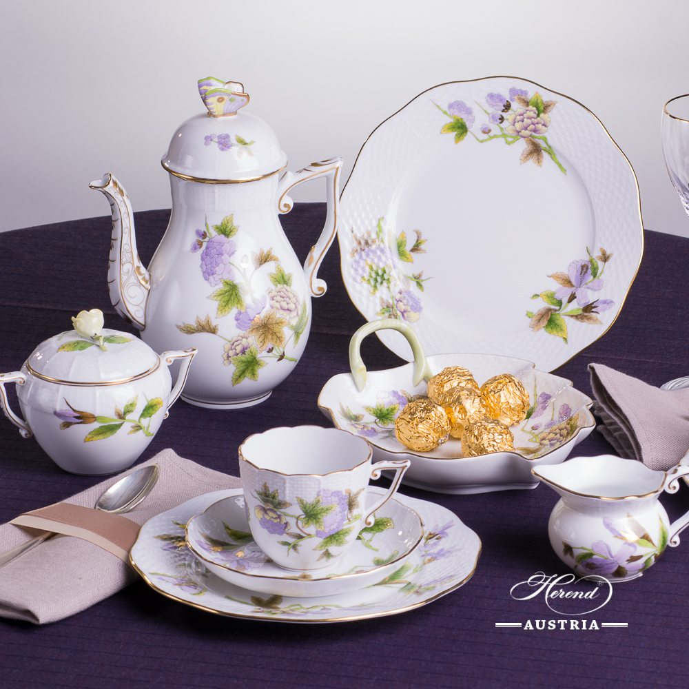 Royal Garden Green - Coffee Set for 2 Persons