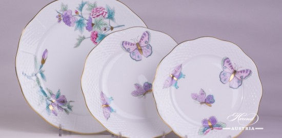 Royal Garden-EVICT2 Dinner and Dessert Plate - Herend porcelain