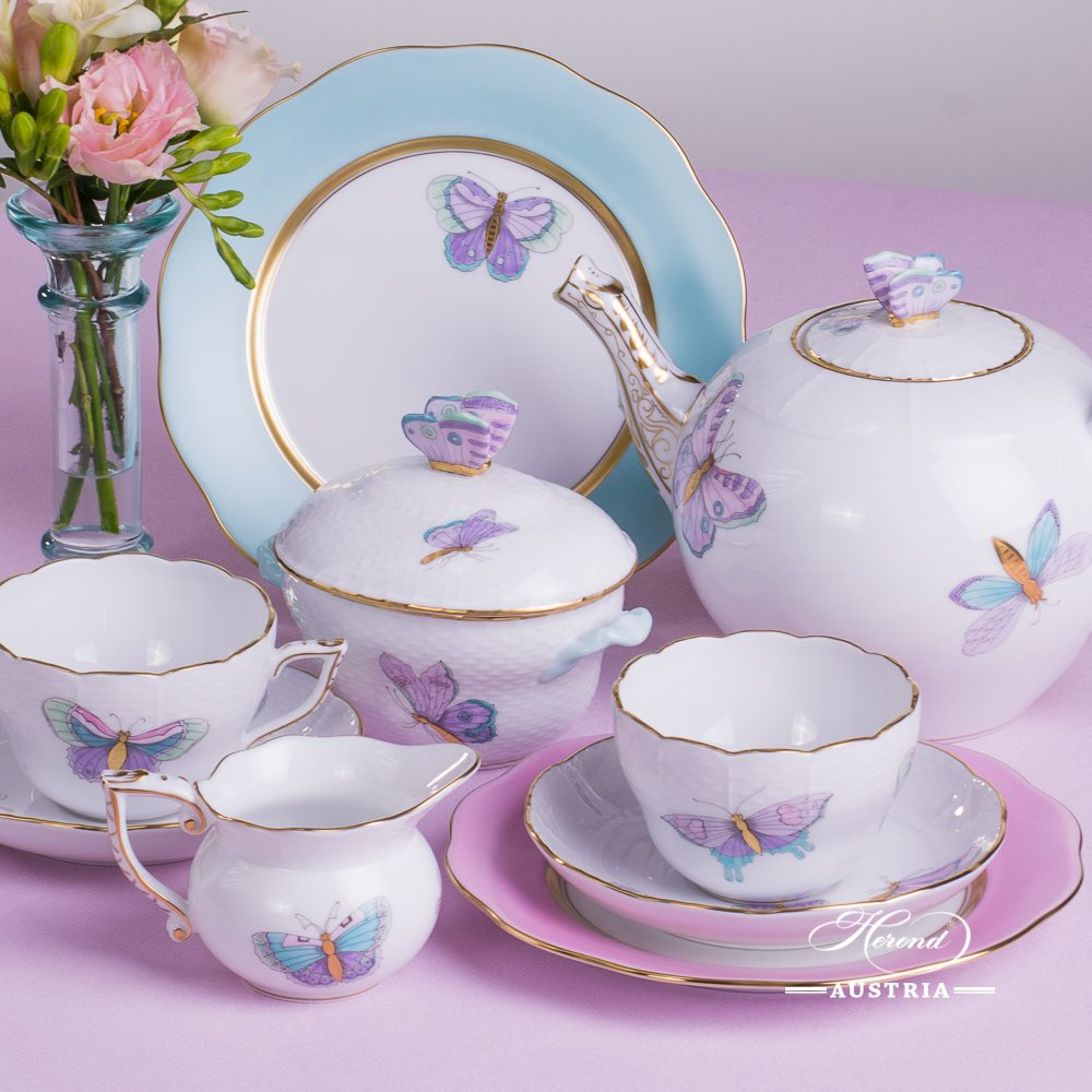 *Royal Garden - EVICTP2 Essential Tea-Set for 2 Persons - Herend Porcelain