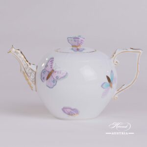 Royal Garden-Turquoise 604-0-17 EVICTP2 Tea Pot Herend porcelain