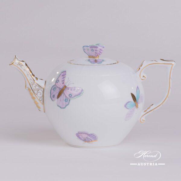 Royal Garden-Turquoise 604-0-17 EVICTP2 Tea Pot Herend porcelain