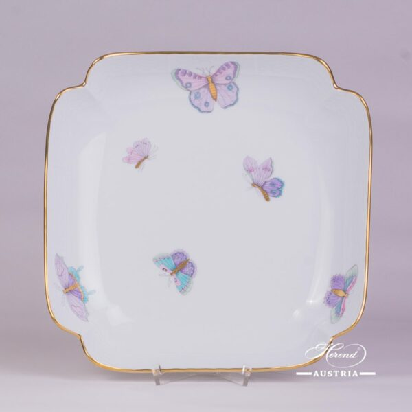 Salad Dish181-0-00 EVICTP2 Royal Garden Turquoise Butterfly pattern. Herend fine chinahand painted. Tableware