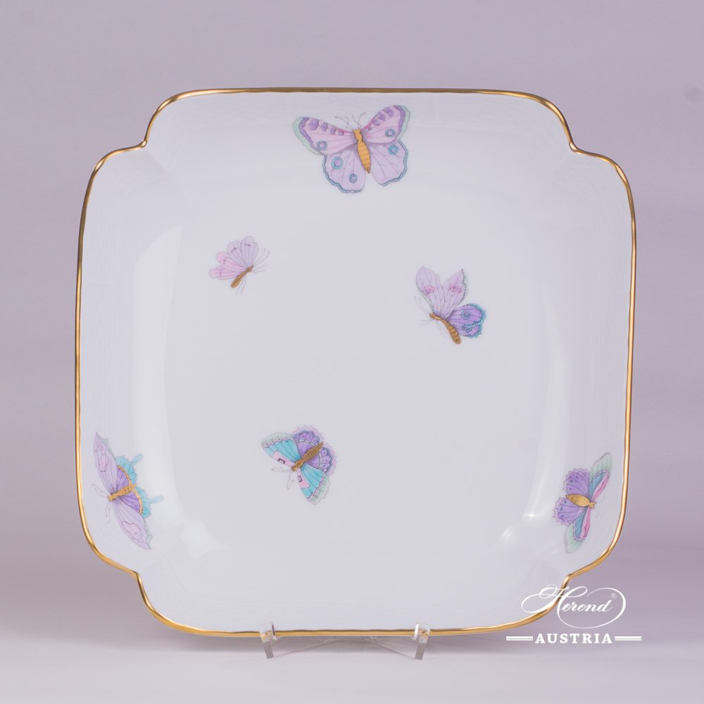 Salad Dish 181-0-00 EVICTP2 Royal Garden Turquoise Butterfly pattern. Herend fine china hand painted. Tableware