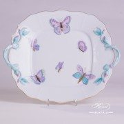 Royal Garden-Turquoise 430-0-00 EVICTP2 Cake Plate Herend porcelain