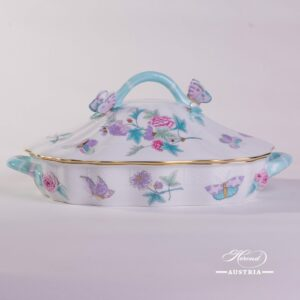 Royal Garden-Turquoise 51-0-17 EVICT2 Vegetable Dish Herend porcelain