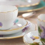 Tea Cup w. Saucer 730-0-00 EVICTP2 Royal Garden Turquoise Butterfly pattern. Herend fine china hand painted. Tableware