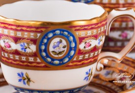 Silk Brocade-EGAVT Coffee Cup - Herend Porcelain