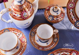 Silk Brocade-EGAVT Coffee Set - Herend Porcelain