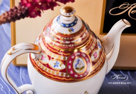 Silk Brocade-EGAVT Coffee Pot - Herend Porcelain