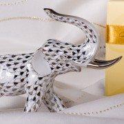 Elephant 5266-0-00 PTVH platinum Herend porcelain animal figurine