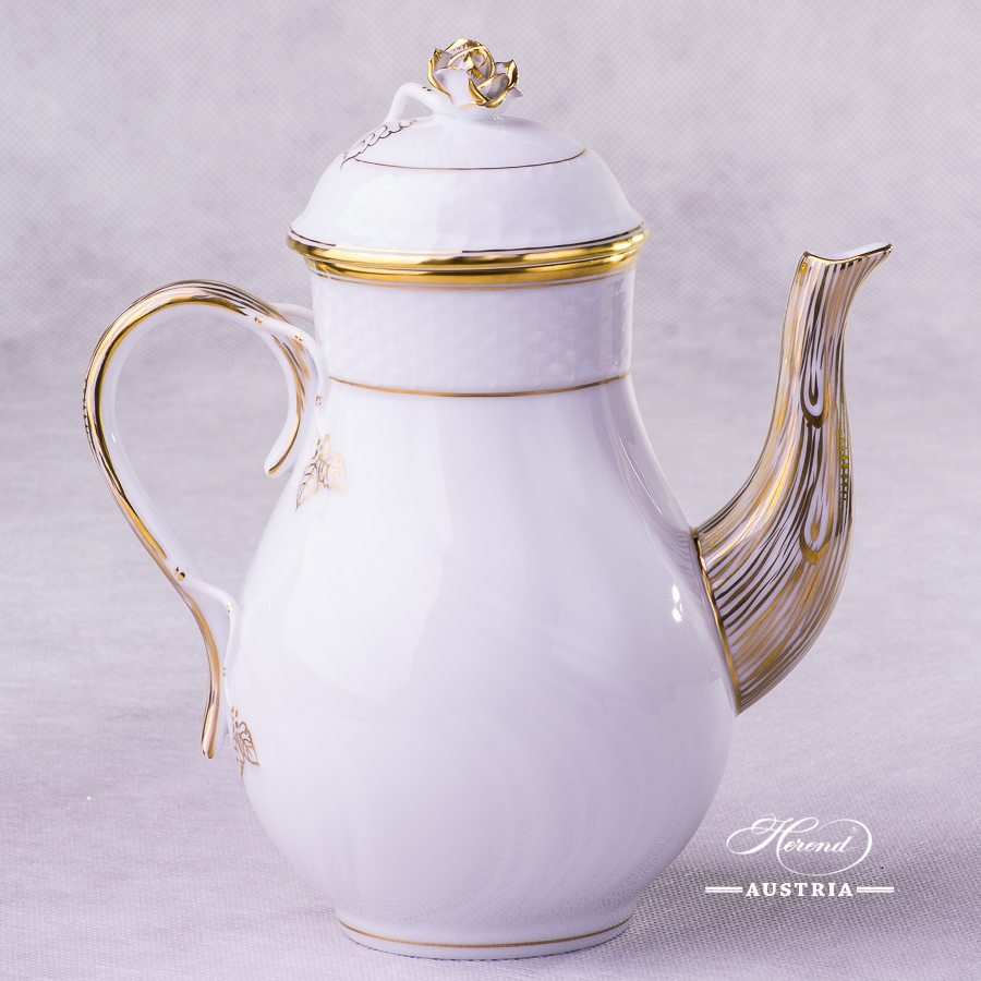 Hadik Coffee Pot - 1614-0-09 HD - Herend Porcelain