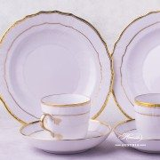 Hadik Coffee Cup 1707-0-00 HD and Dessert Plate 1518-0-00 HD Herend porcelain