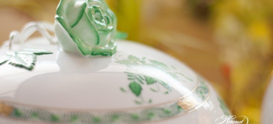 Apponyi Green-AV Dinner Set - Herend Porcelain