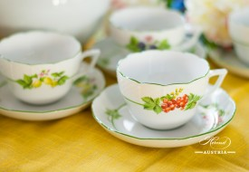 Herend fine china Tea Set Fruits-BAC also known as Bacci Fere motif