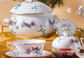 Coloured Fishes-COPO Tea Cup and Soup Tureen - Herend Porcelain
