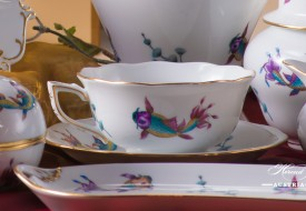 Coloured Fishes-COPO Tea Cup and Saucer - Herend Porcelain
