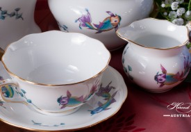 Coloured Fishes-COPO Tea Cup and Creamer - Herend-Porcelain
