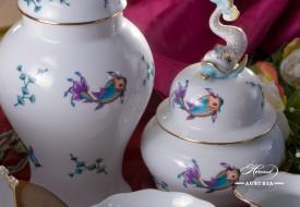 Coloured Fishes-COPO Vase - Herend Porcelain