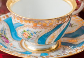 Colette Tea Cup and Saucer - Herend Porcelain