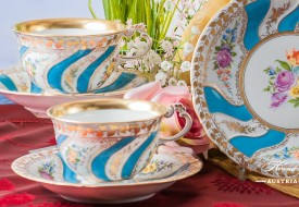 Colette Dessert Plate and Tea Cup - Herend Porcelain