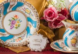 Colette Dessert Plate and Creamer - Herend Porcelain