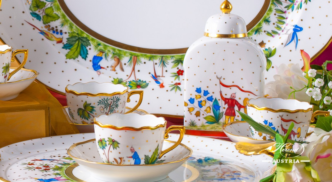 Oriental Showmen-FODO Coffee Set - Herend Porcelain