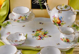 Herend porcelain Tea Set with Fruits - CFR decor