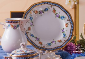 Pearls-GPN Milk Jug and Dessert Plate - Herend Porcelain