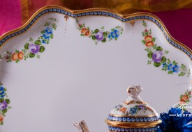 Pearls-GPN Coffee Pot and Tray - Herend Porcelain
