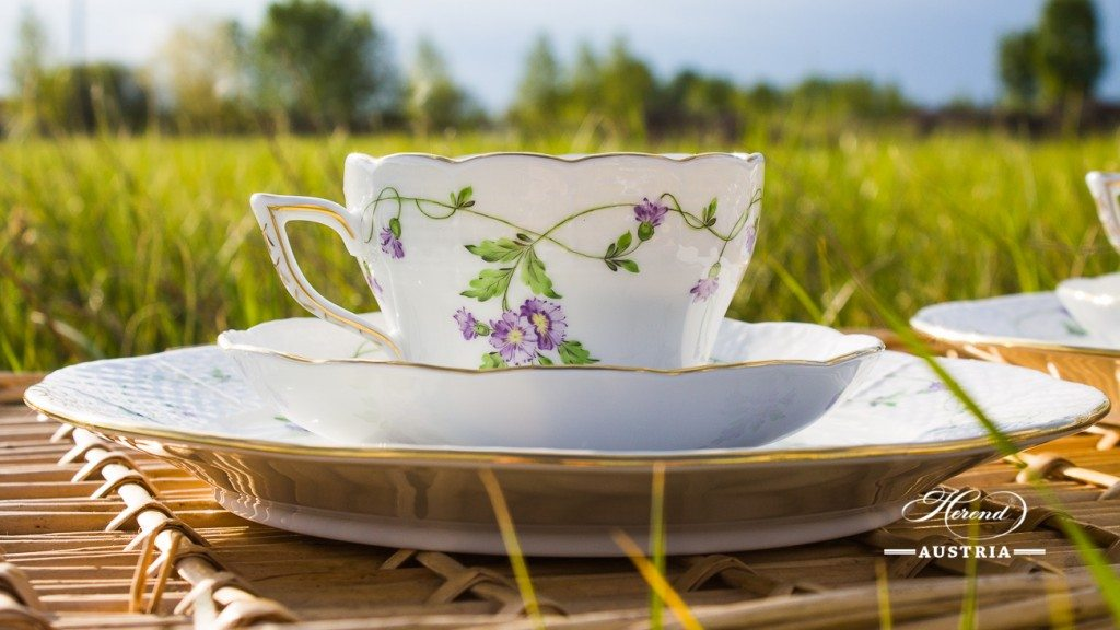 Tea / Coffee Cup and Saucer 730-0-00 IA Imola design. Classic Herend pattern. Herend fine china. Hand painted tableware