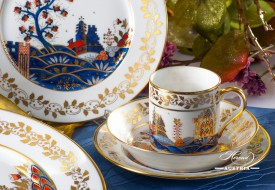 Miramare-MR Coffee Cup and Dessert Plate - Herend Porcelain