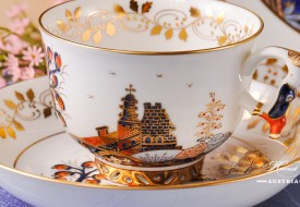 Miramare-MR Tea Cup with Mandarin Handle - Herend Porcelain